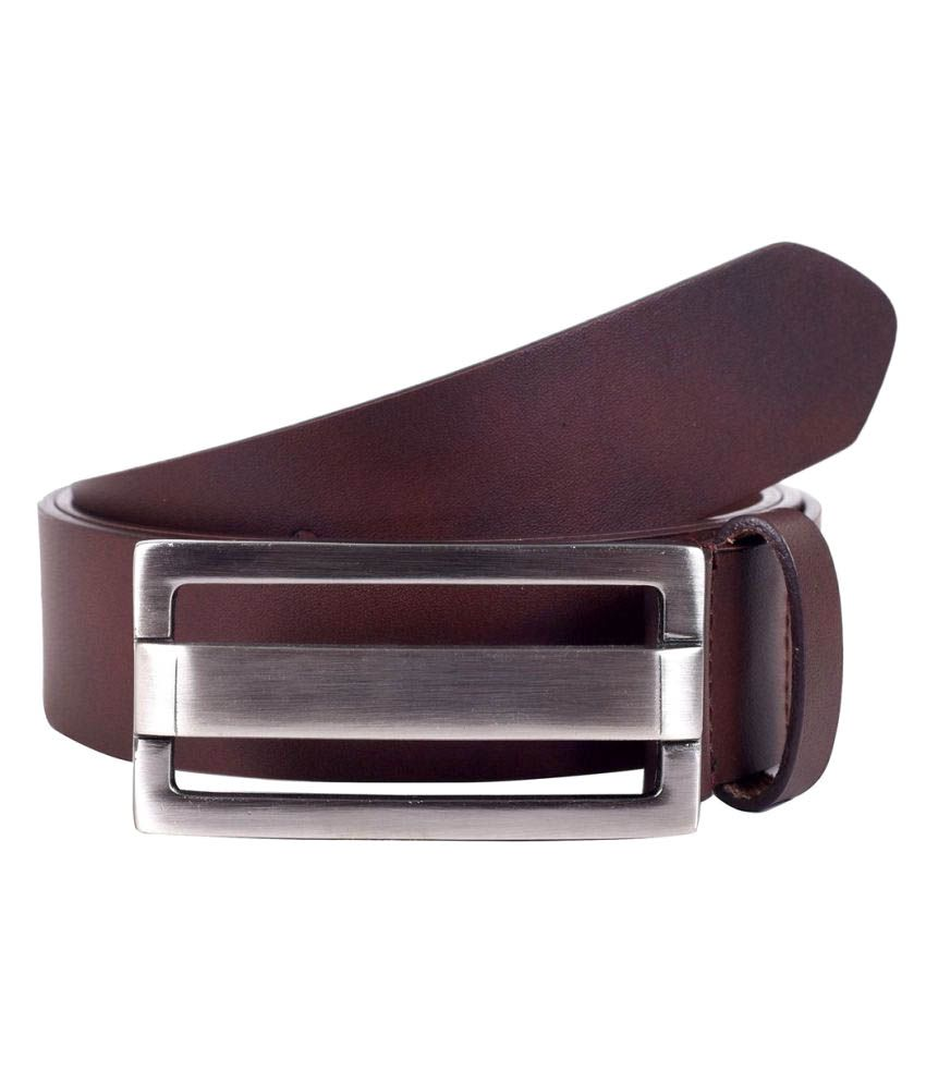 Lino Perros Brown Leather Formal Belts