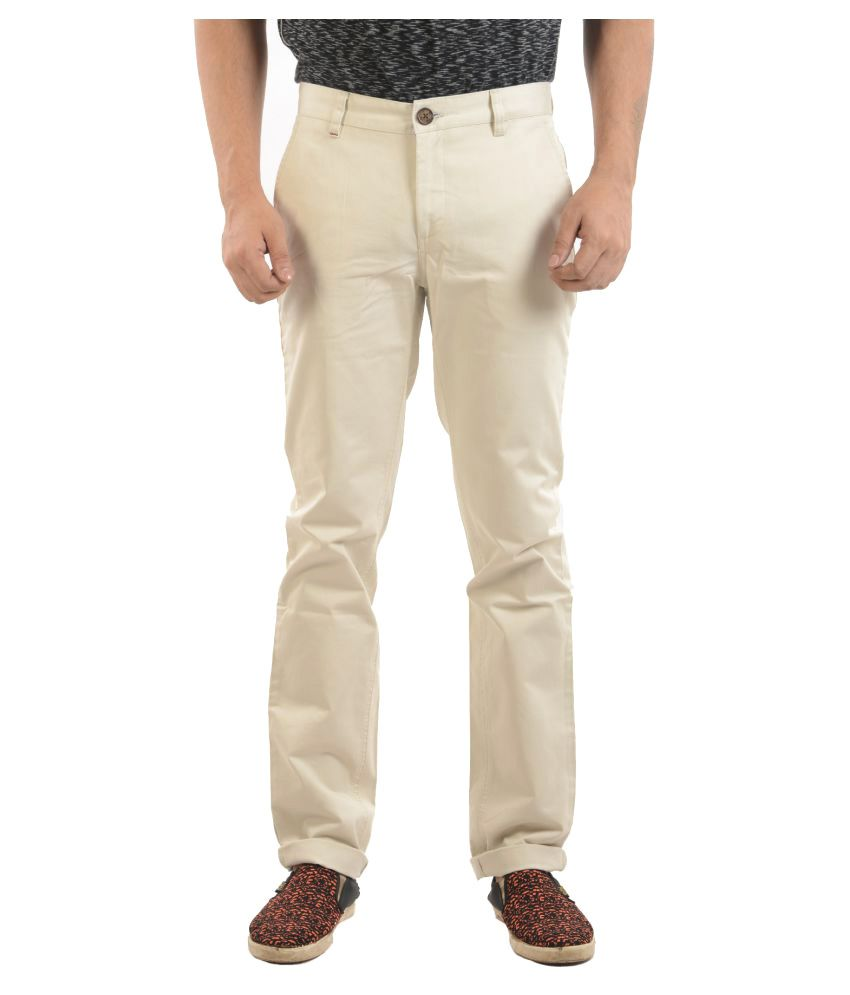 Sheriff Off White Slim -Fit Flat Chinos