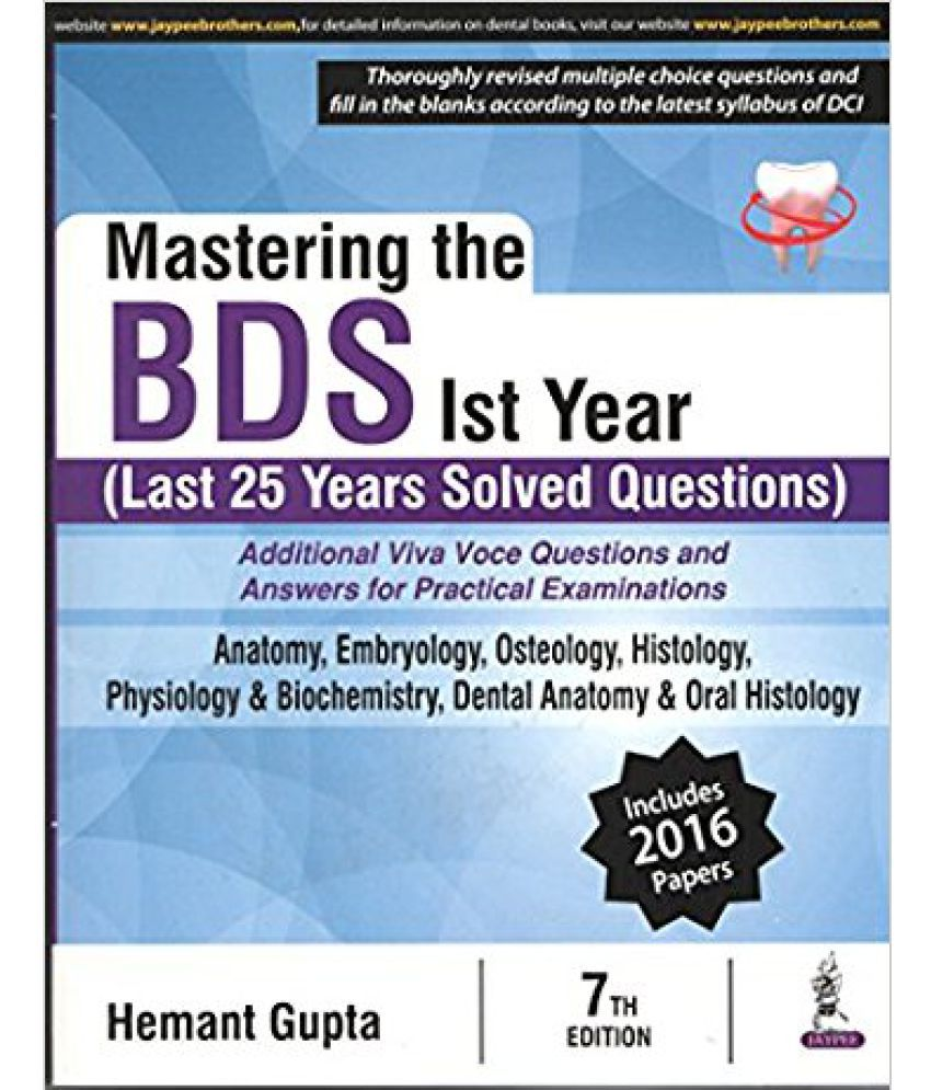 Mastering The Bds Ist Year (Last 25 Years Solved Question): Buy ...