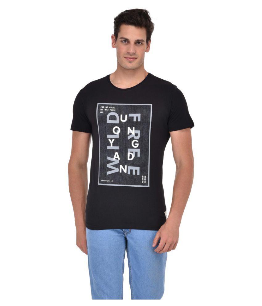 Octave Black Round T-Shirt
