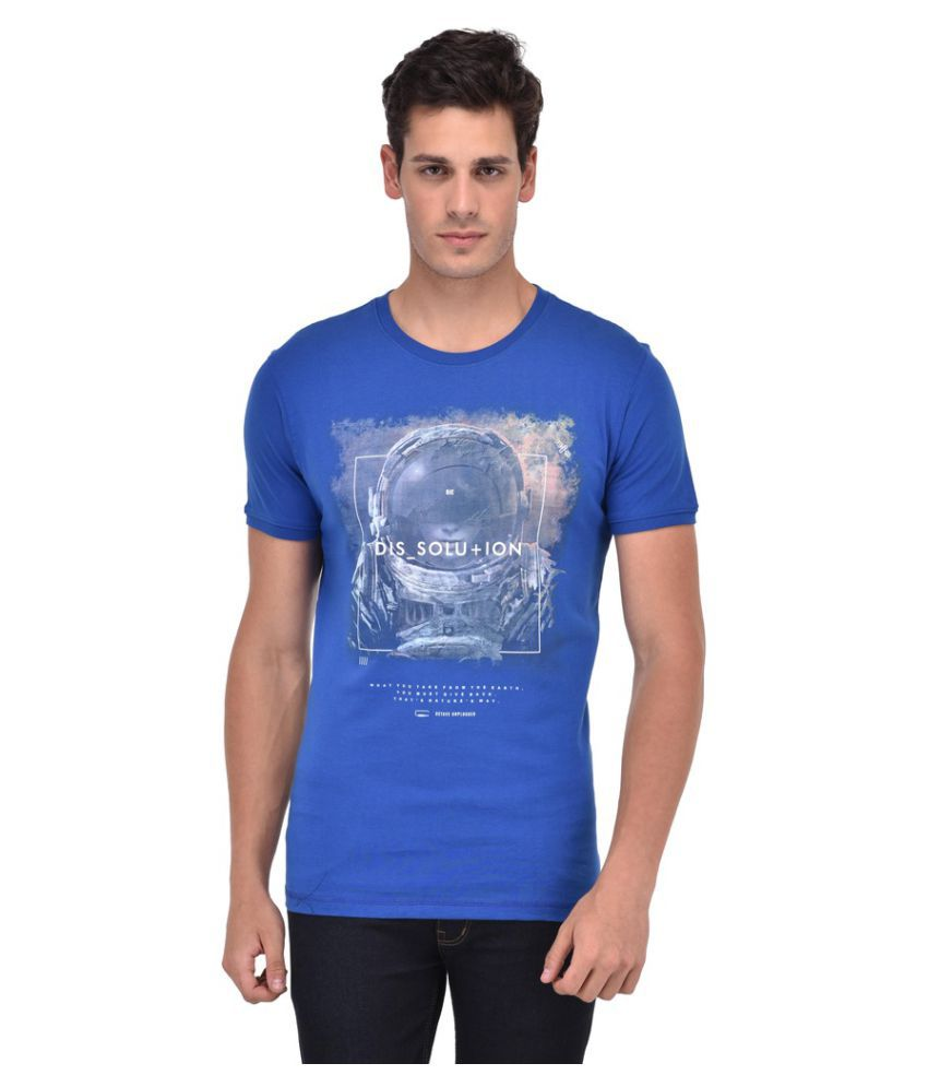 Octave Blue Round T-Shirt