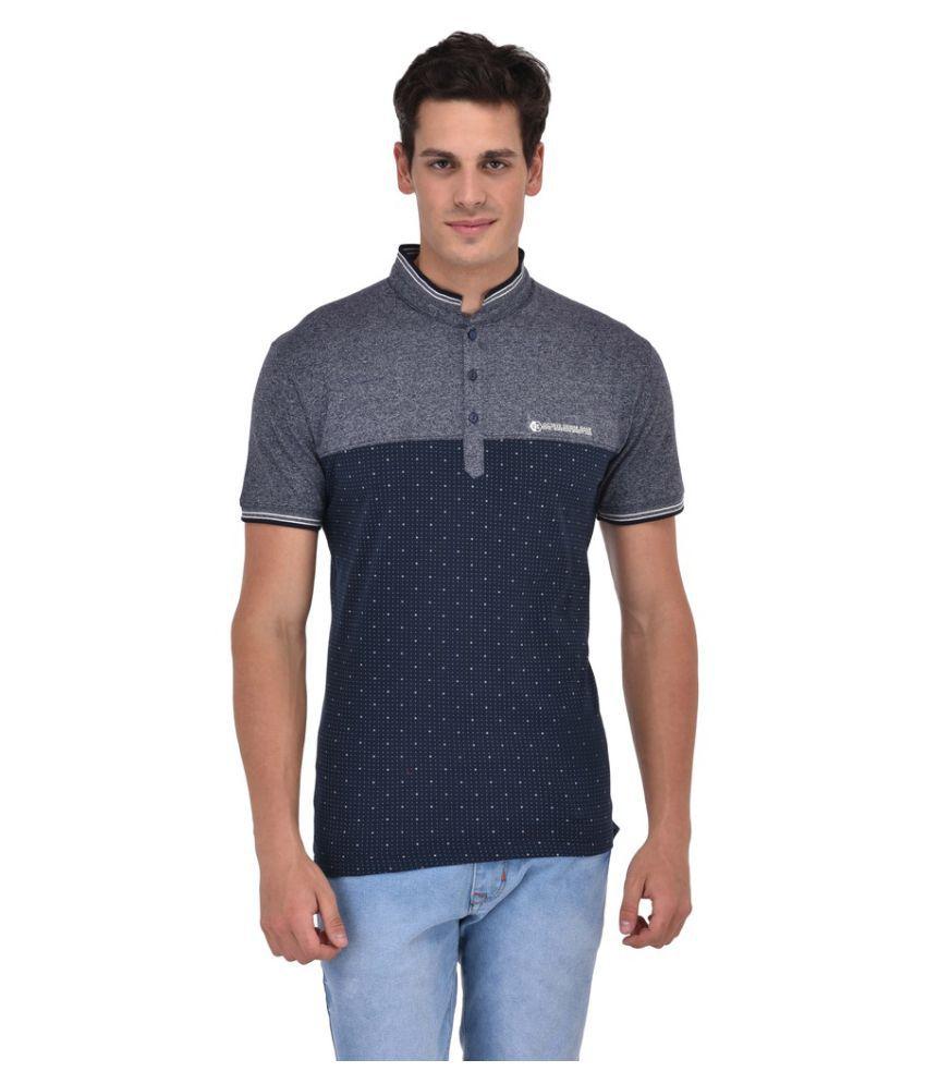 Octave Grey High Neck T-Shirt