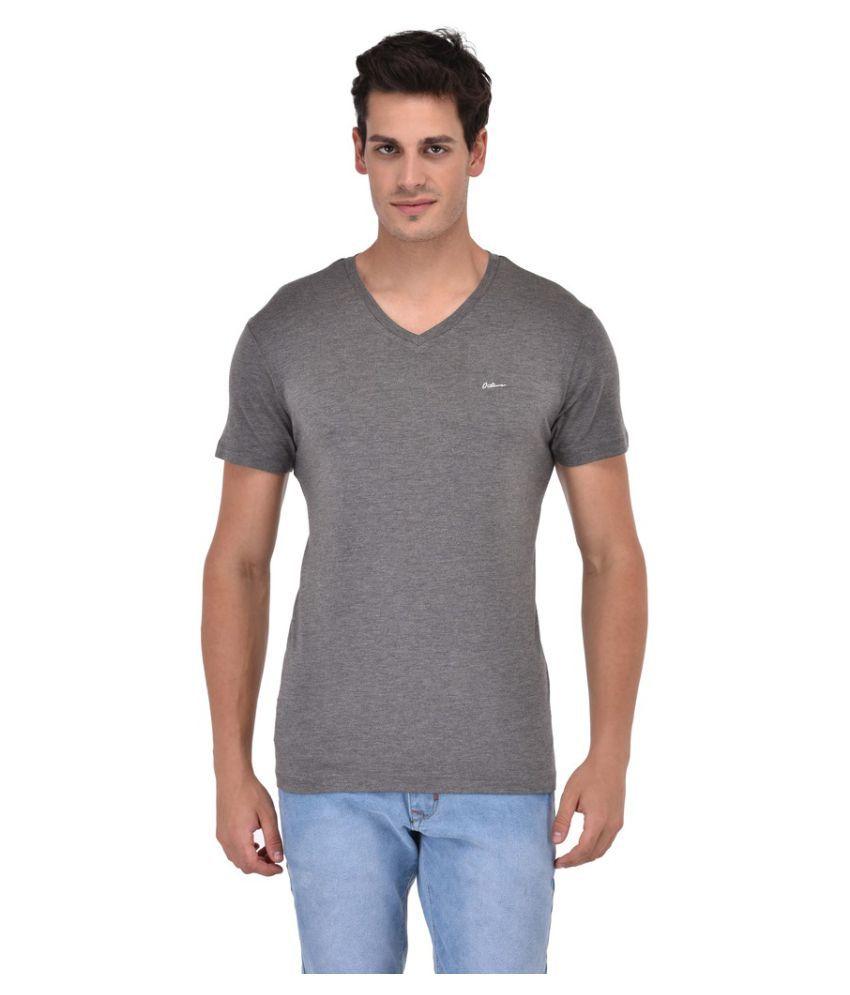 Octave Grey V-Neck T-Shirt