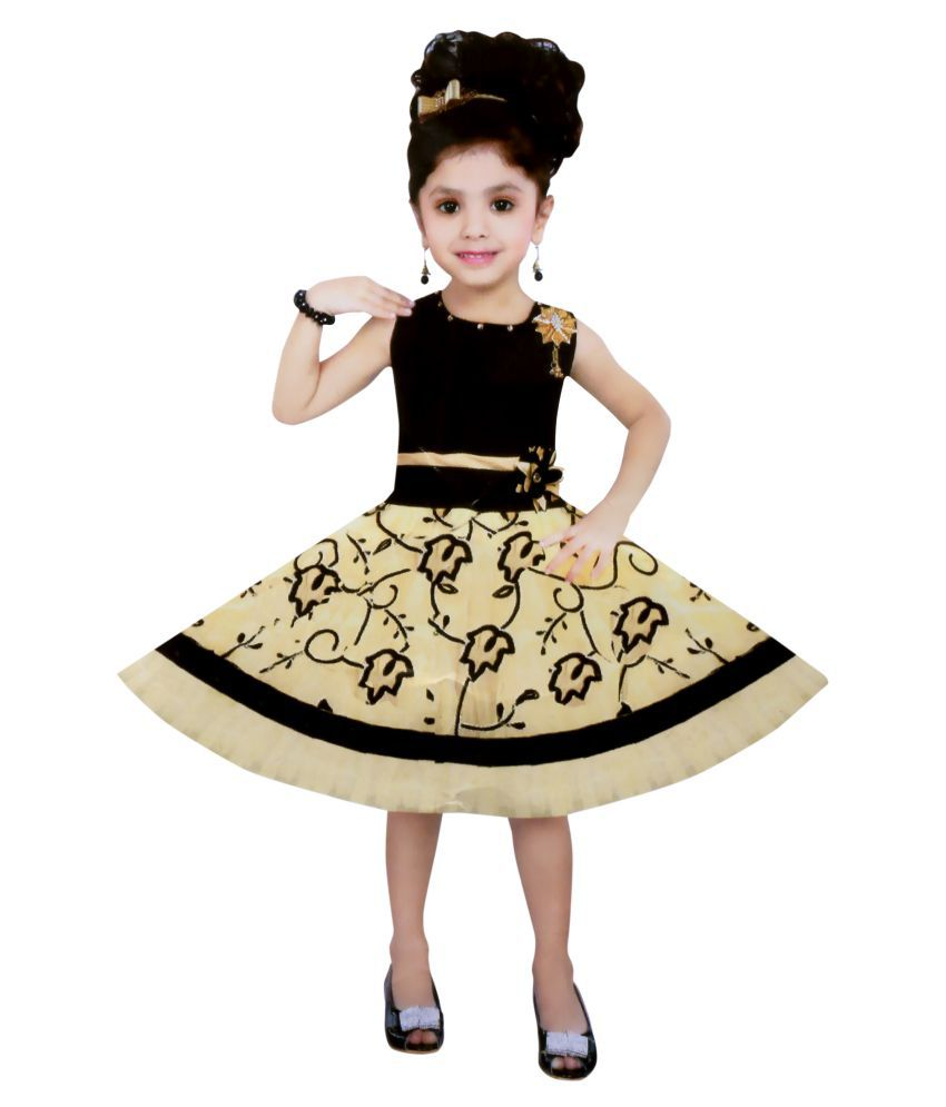 Cute Fashion Kids Girls Baby Dress For Princess Velvet And