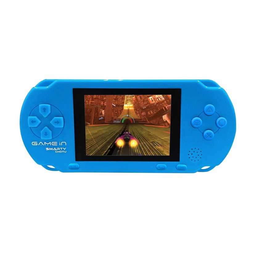 Mitashi GameIn Chotu Handheld Gaming Console with 400 In-Built Games-Blue