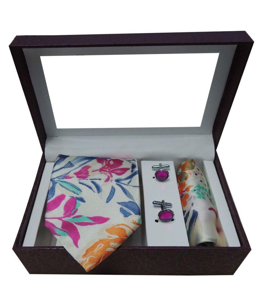 Riyasat Pink Floral Micro Fiber Necktie