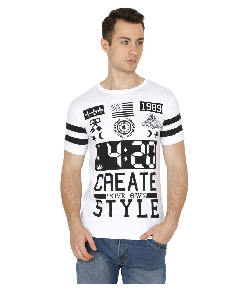 Will Chase White Round T-Shirt