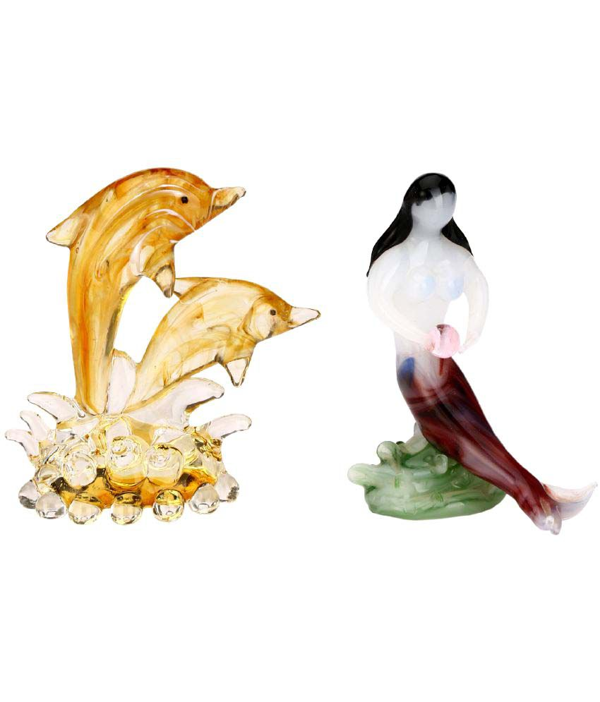 Somil Multicolour Glass Figurines 3 - Pack of 2