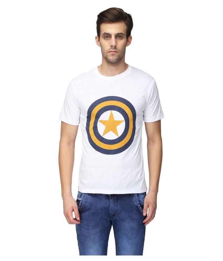 Be-Beu White Round T-Shirt