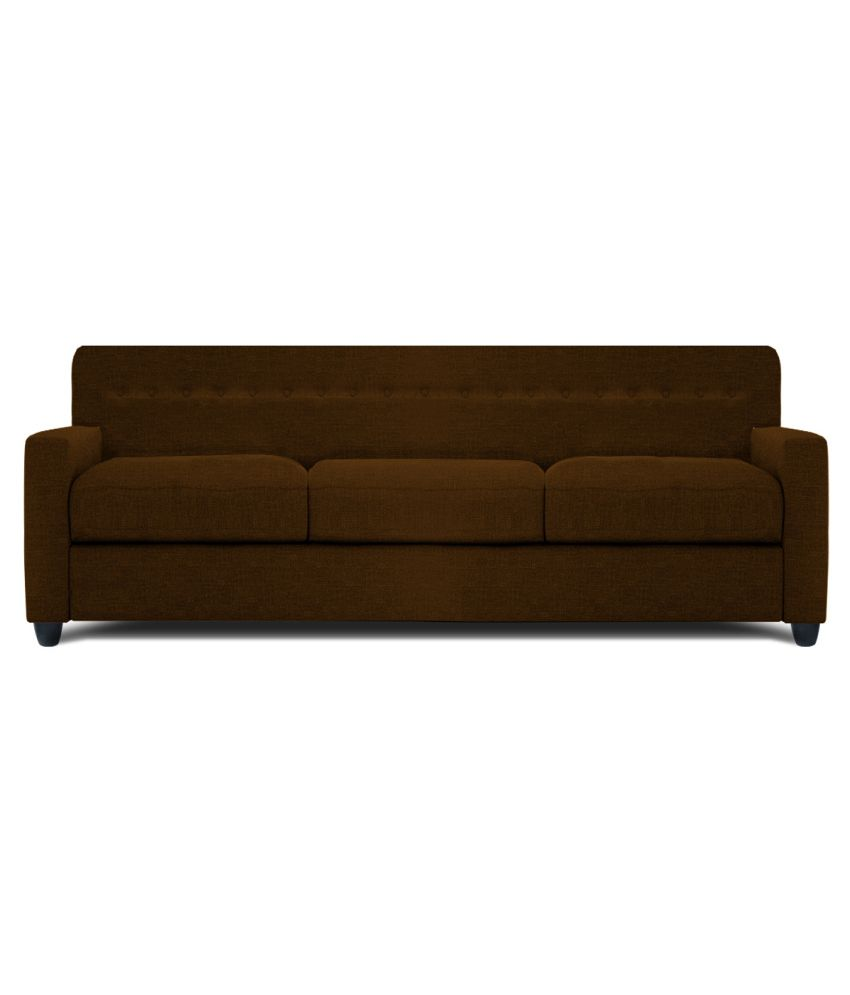 dolphin solitaire fabric 3 1 1 seater sofa set brown buy dolphin rh snapdeal com