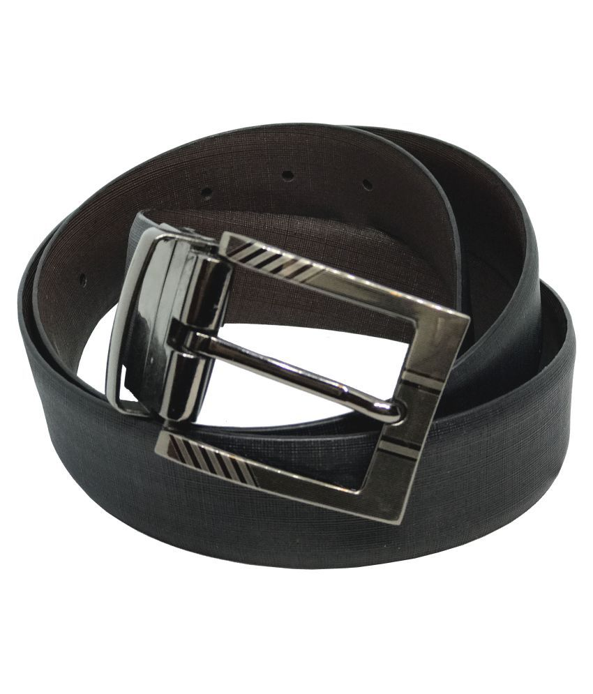 JL Collections Black Leather Formal Belts