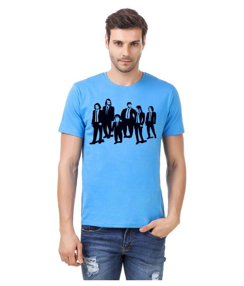 Desi Swag Blue Round T-Shirt