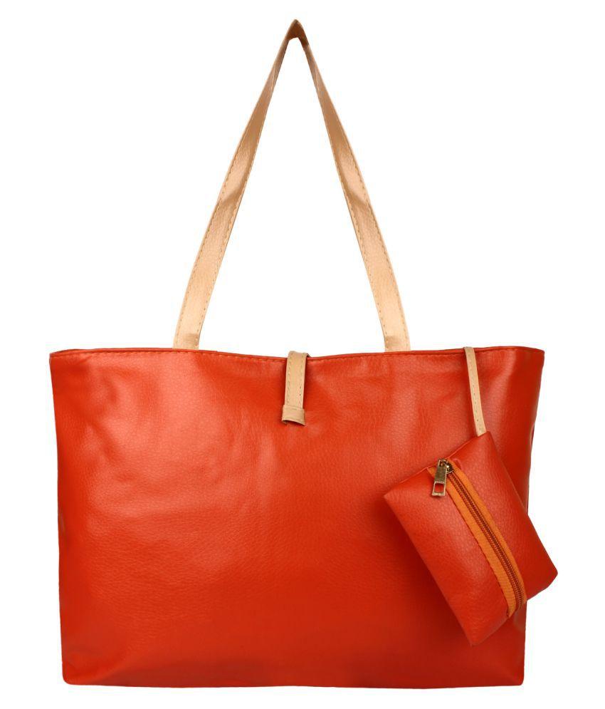 Avsr Orange P.U. Shoulder Bag