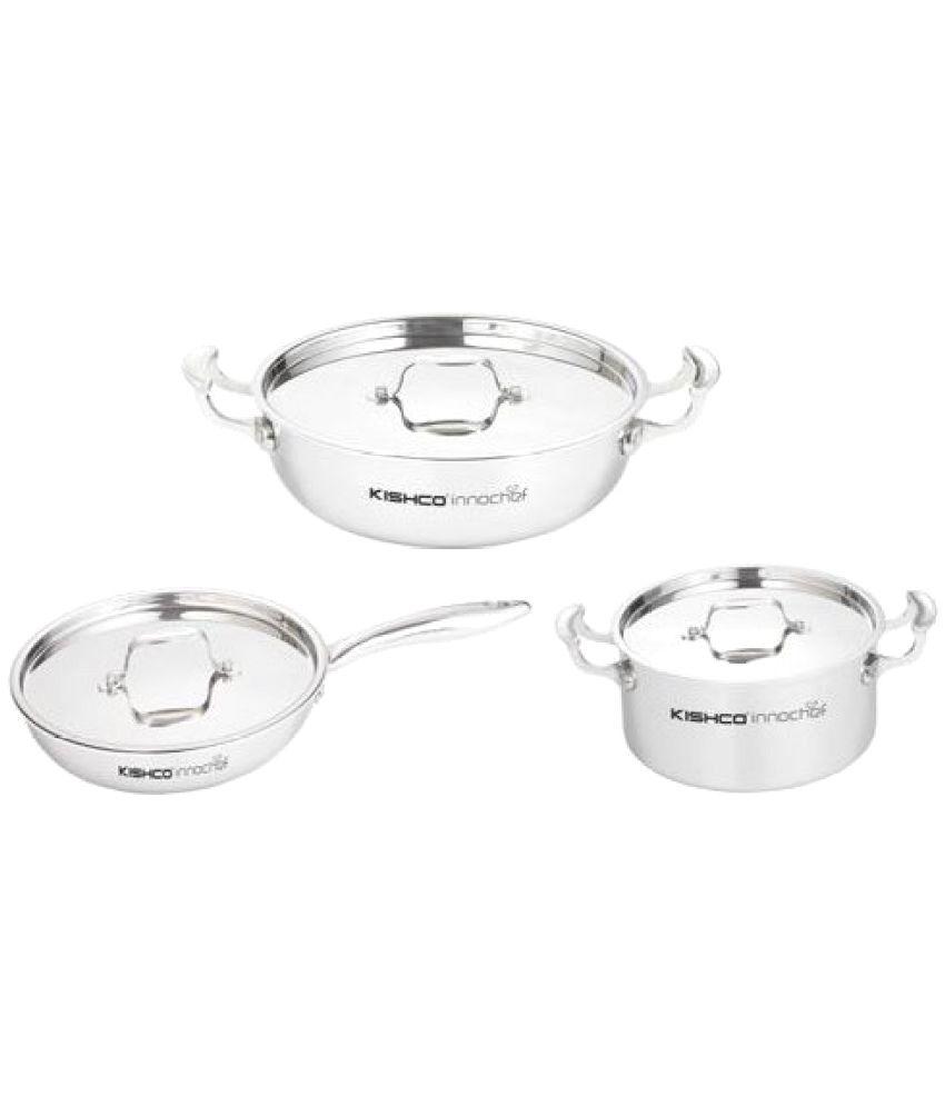 Kishco 3 Piece Cookware Set