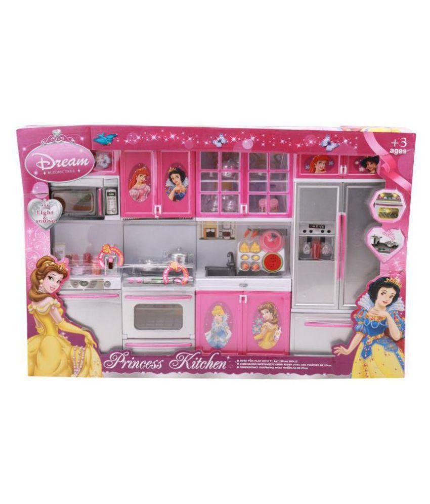 DWIZA Barbie Dream House Kitchen Set Light & Sound