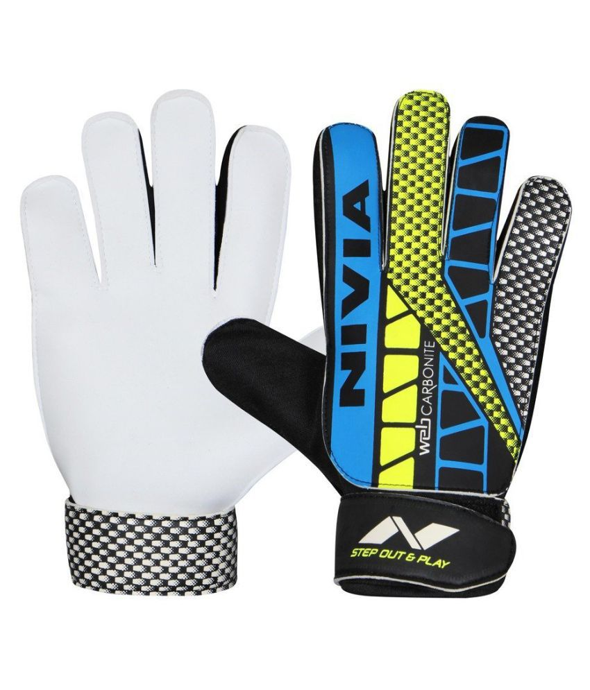 Nivia Carbonite Web Gloves Size M 898 /Football Goal Keeping Gloves / Gaolkeeper Glove