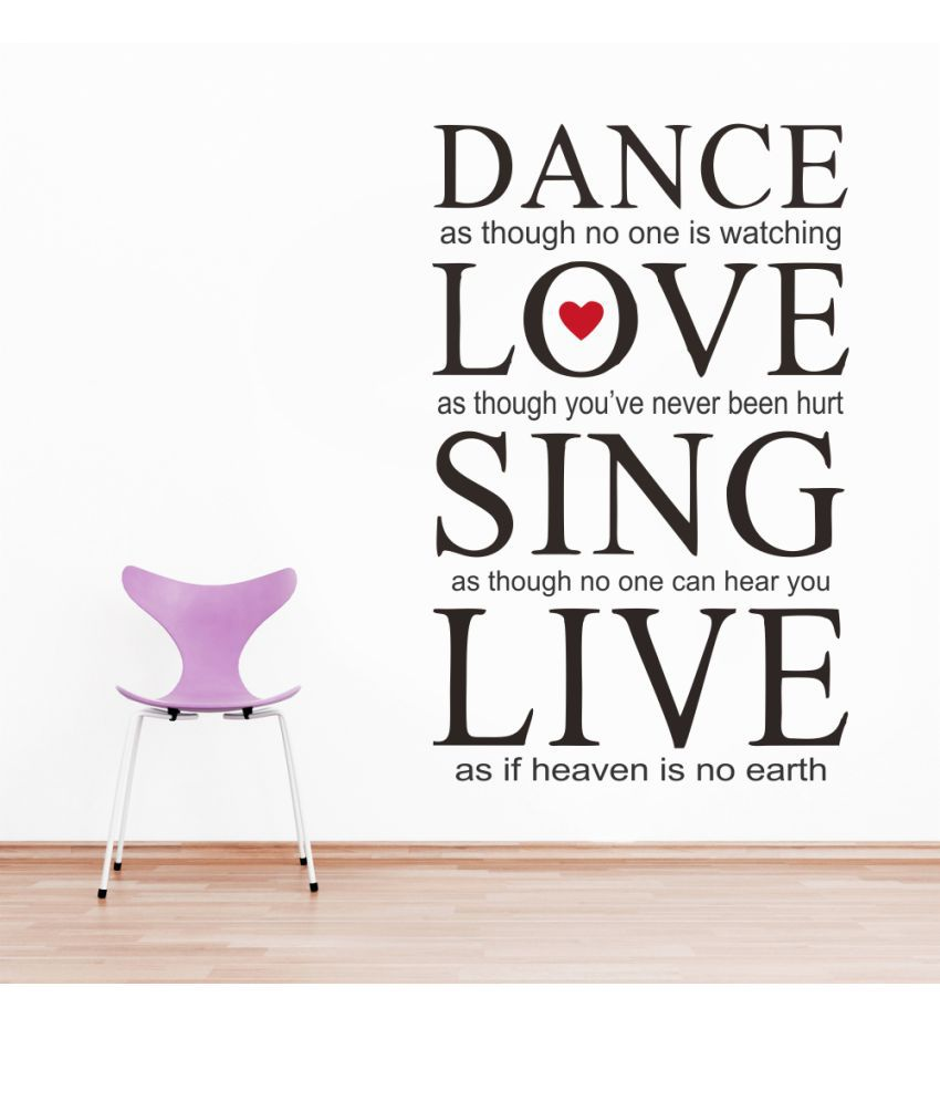 Impression Wall Dancelovesinglive Thought PVC Multicolour Sticker