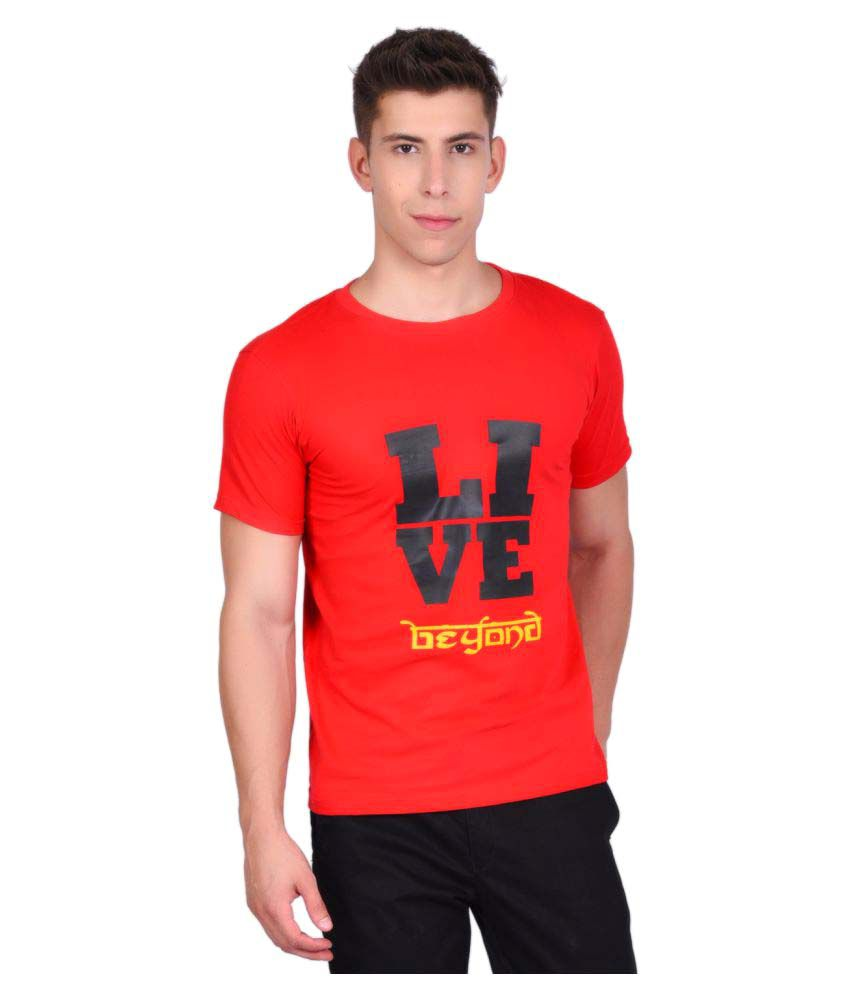 Libey Red Round T-Shirt