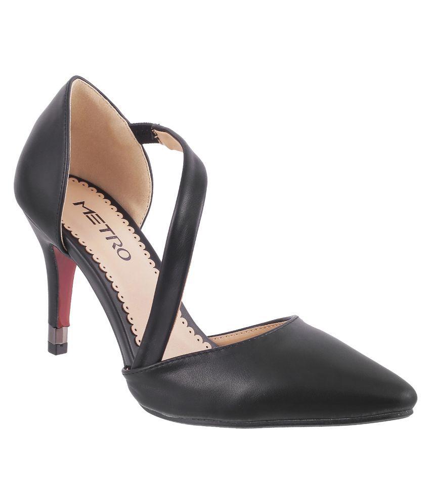 METRO BLACK Stiletto Heels
