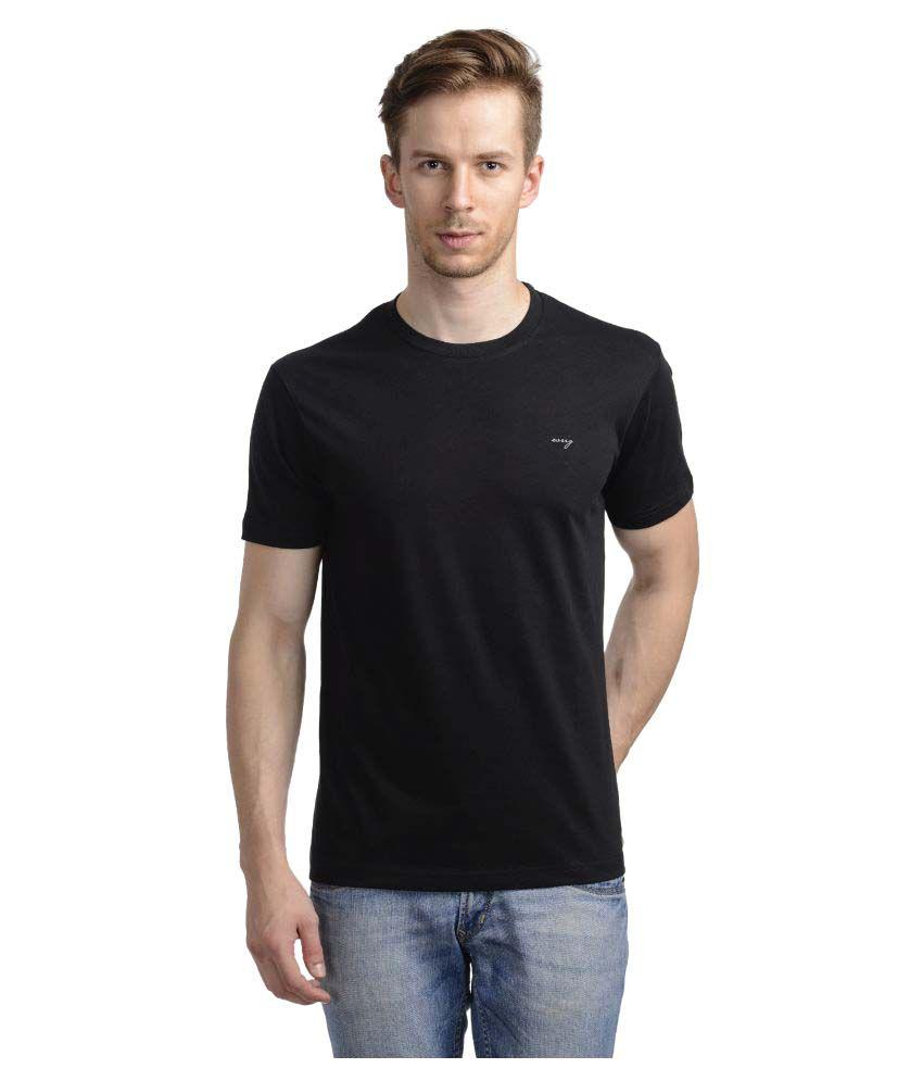 Wrig Black Round T-Shirt