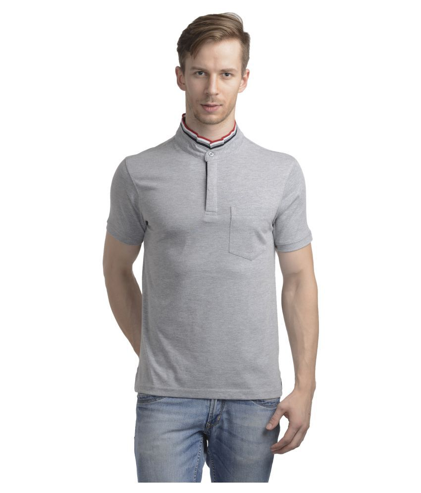 Wrig Grey High Neck T-Shirt
