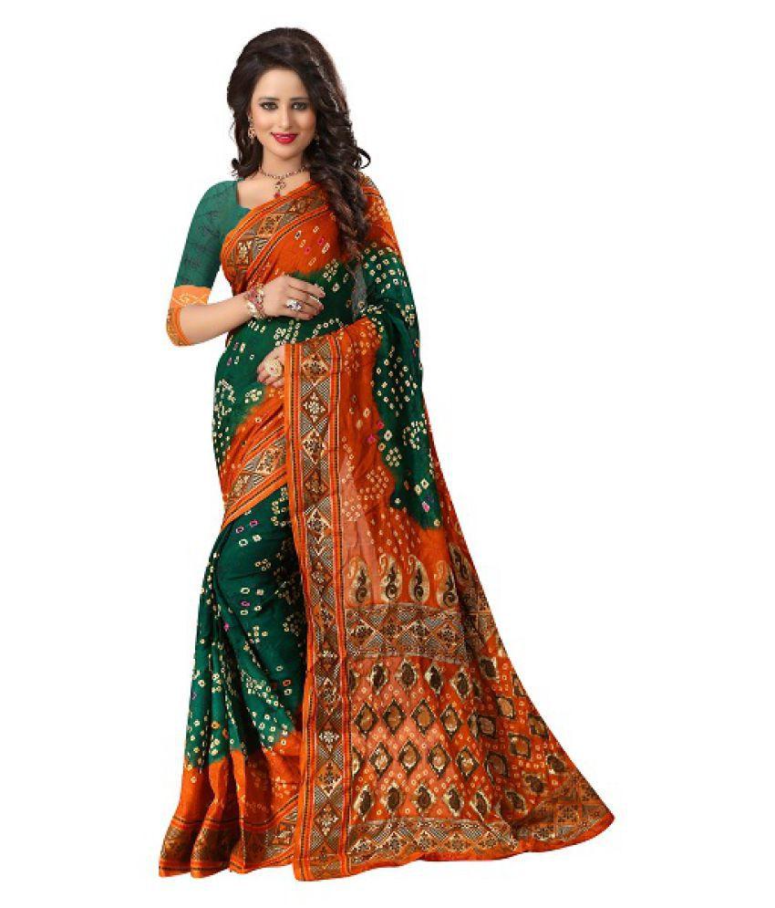 Aryam Multicoloured Cotton Silk Saree