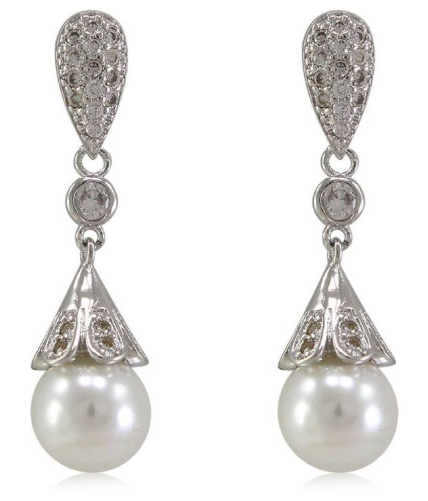 Nysha Collection 92.5 Silver Cubic zirconia Hangings