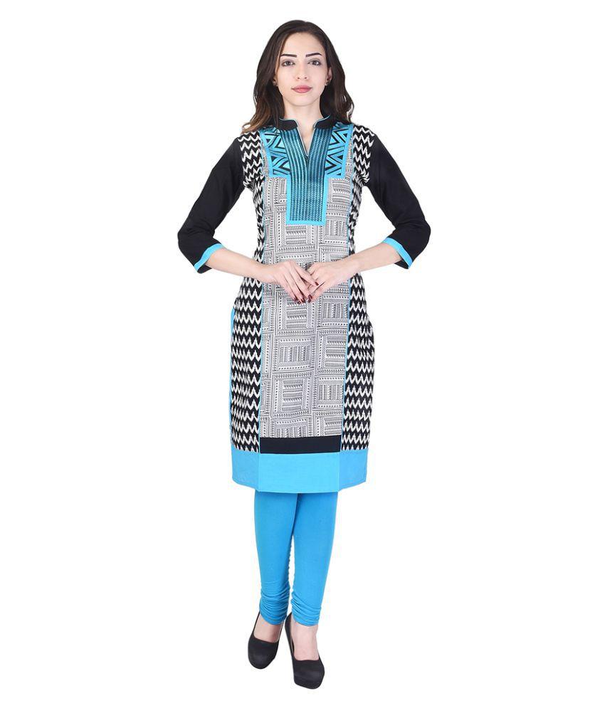 Shopping Rajasthan Multicoloured Cotton Straight Kurti