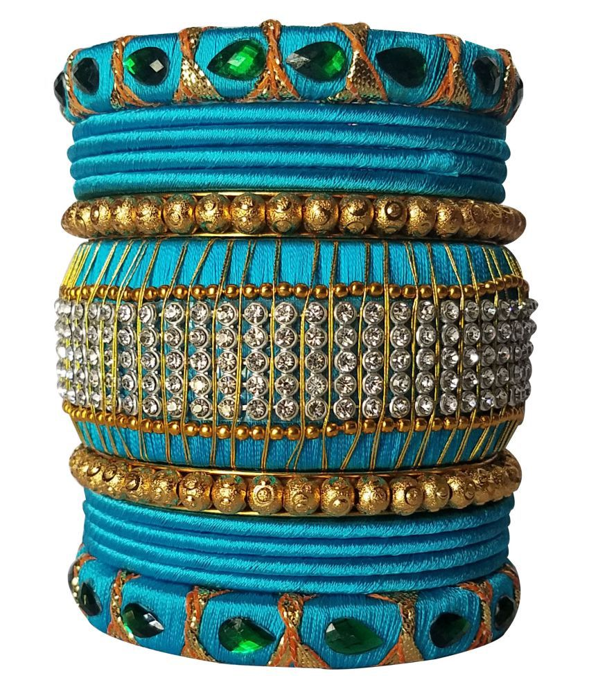 Kuhuk Handcrafted Silk Dori Bangle Set