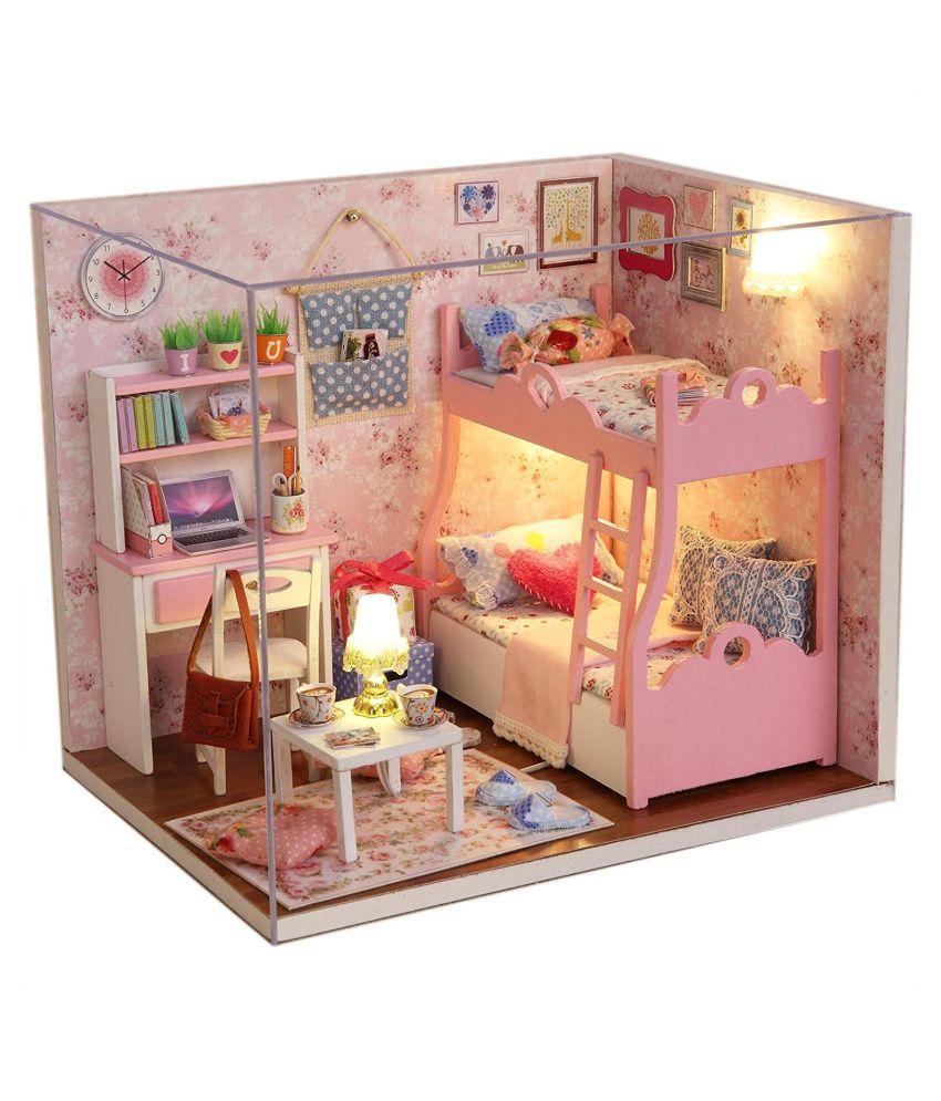 Webby Wooden Dollhouse Miniatures DIY House
