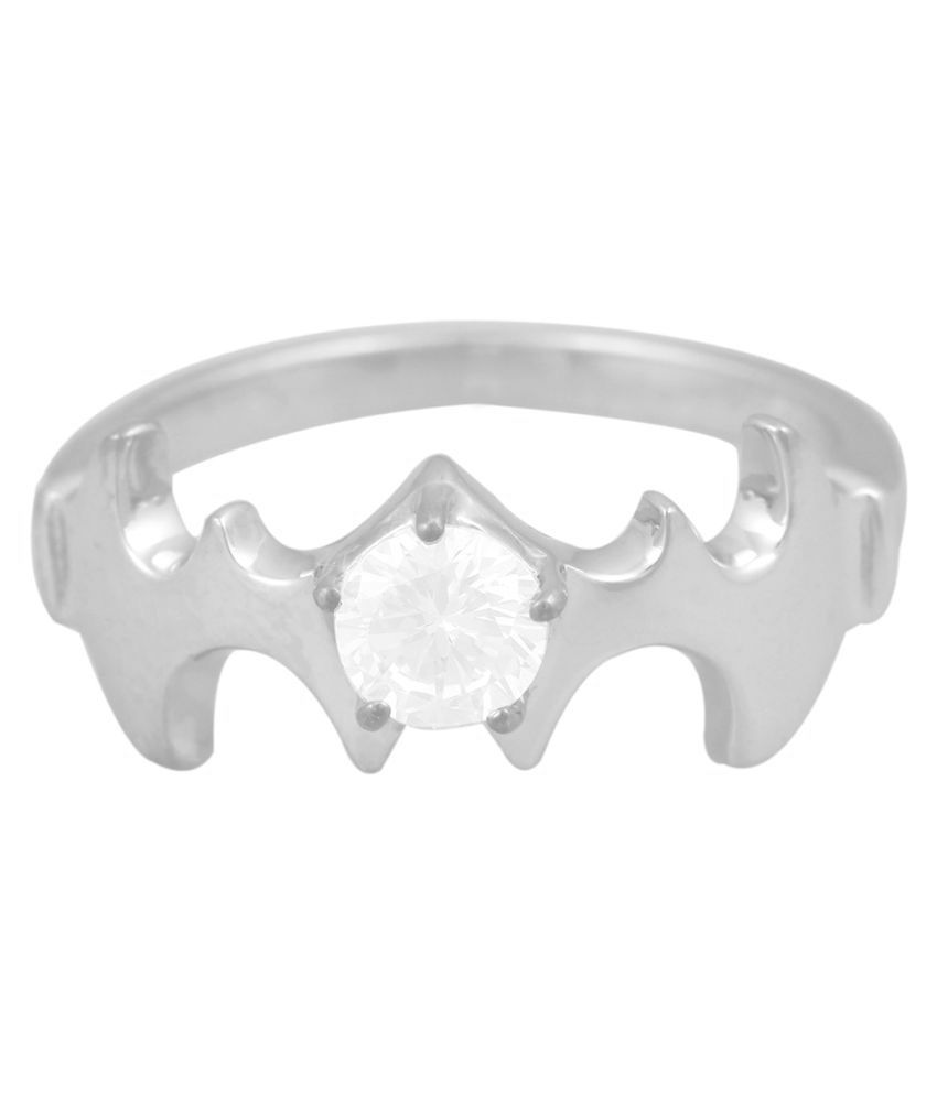 Exxotic Jewelz 92.5 Silver Cubic zirconia Ring