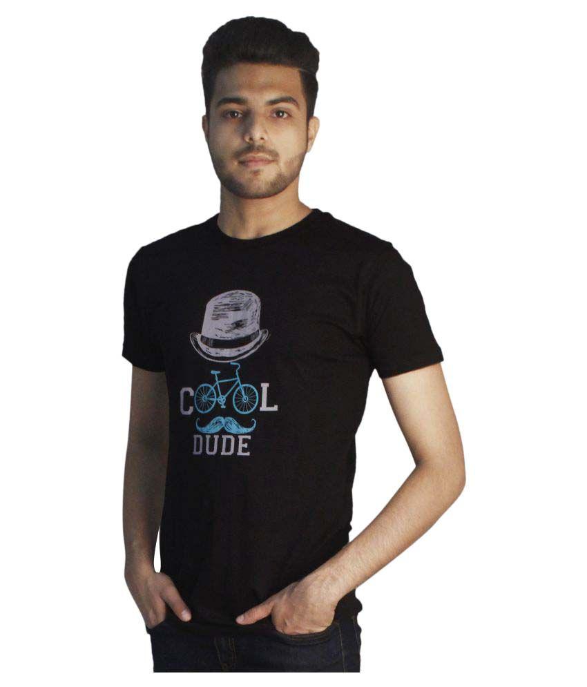 Tapasya Black Round T-Shirt