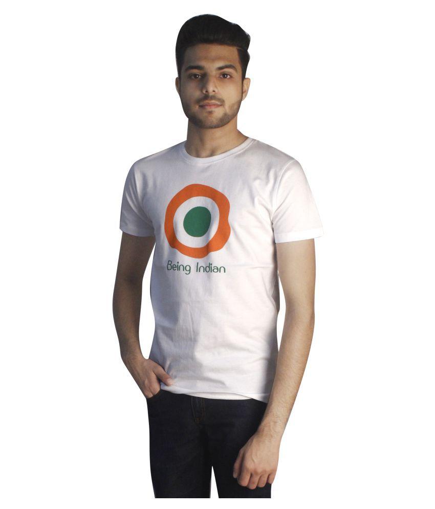 Tapasya White Round T-Shirt