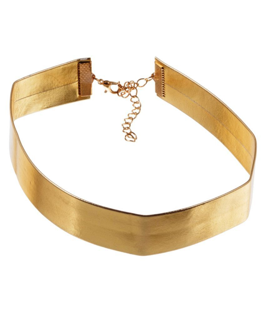 ayesha Gold-Toned Designer Choker Necklace for Women