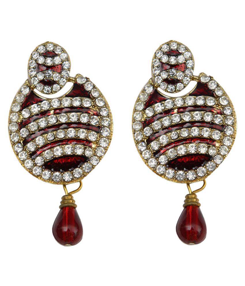 Taj Pearl Designer Festive Earrings
