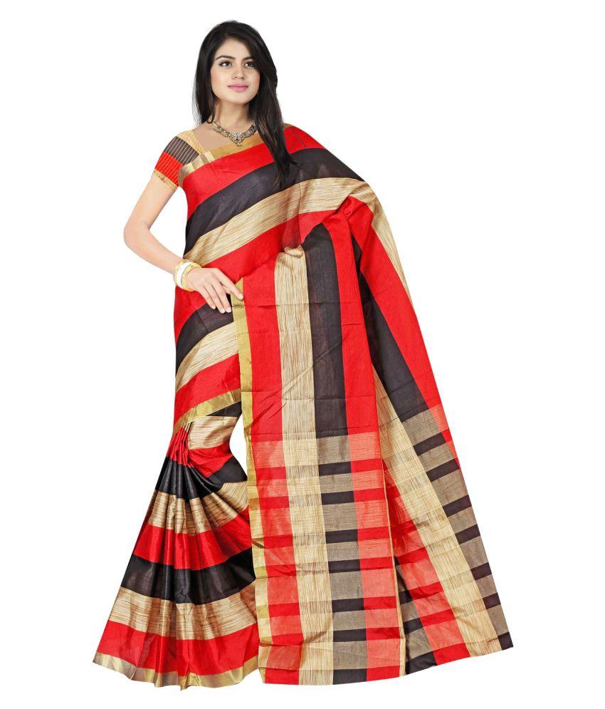 Bhuwal Fashion Multicoloured Polycotton Saree