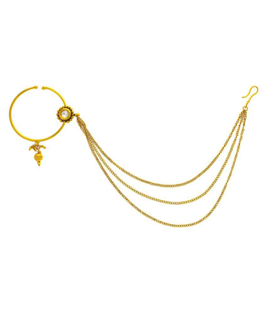 Anuradha Art Golden Colour Designer Classy Chain Styled ...