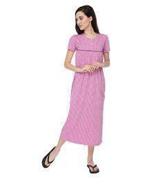 Slumber Jill Cotton Nighty & Night Gowns - 620283828495