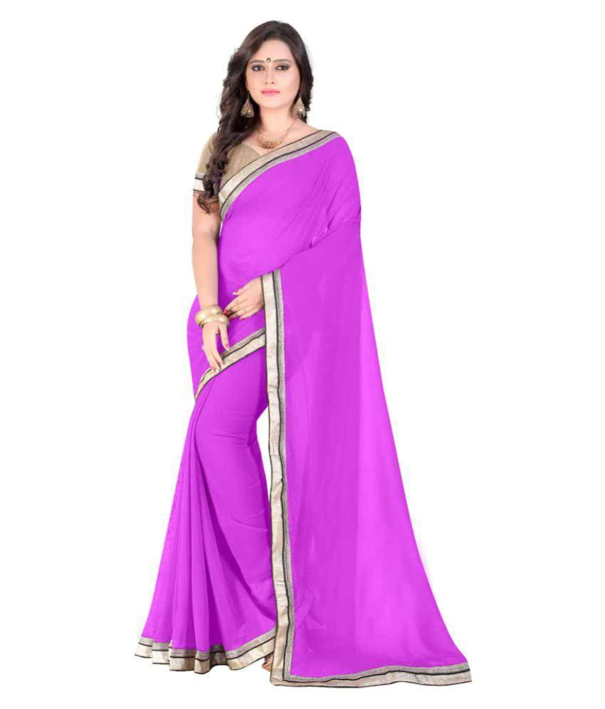 Fab Ikshvaku Purple Georgette Saree