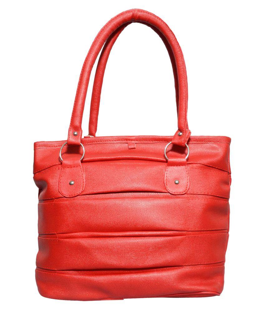 Jayteen Red P.U. Shoulder Bag
