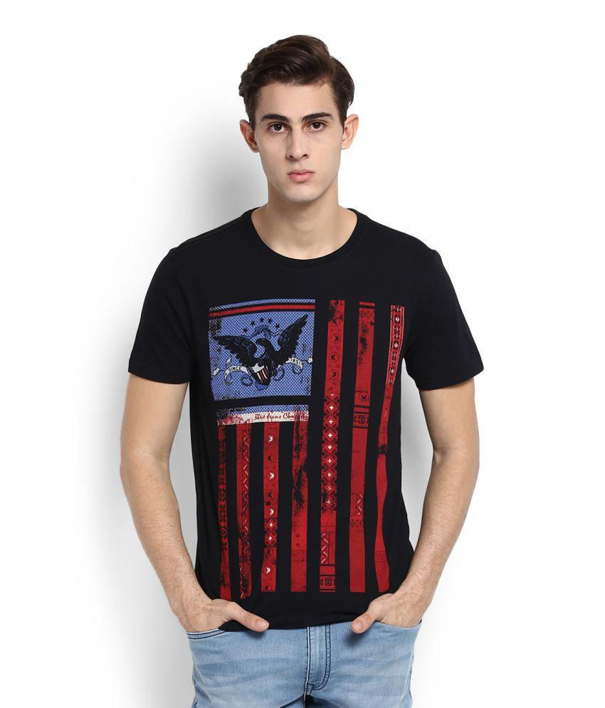 Arrow Sports Black Round T-Shirt