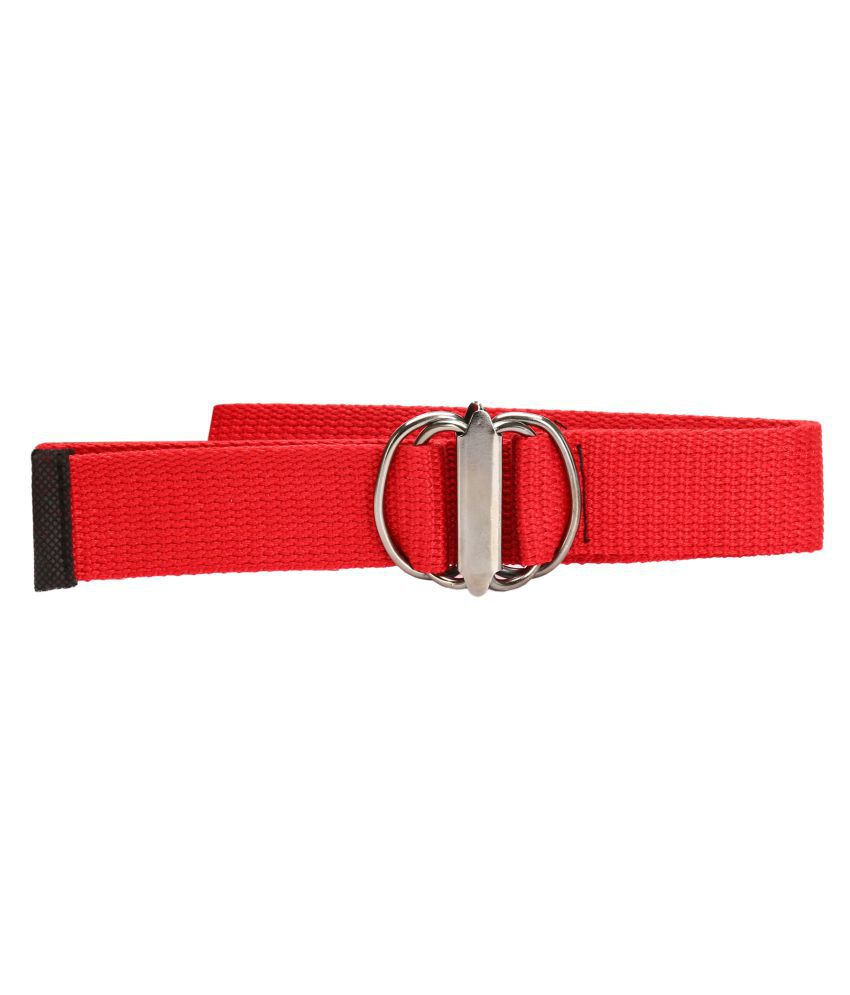 Lewyr Red Jute Casual Belts