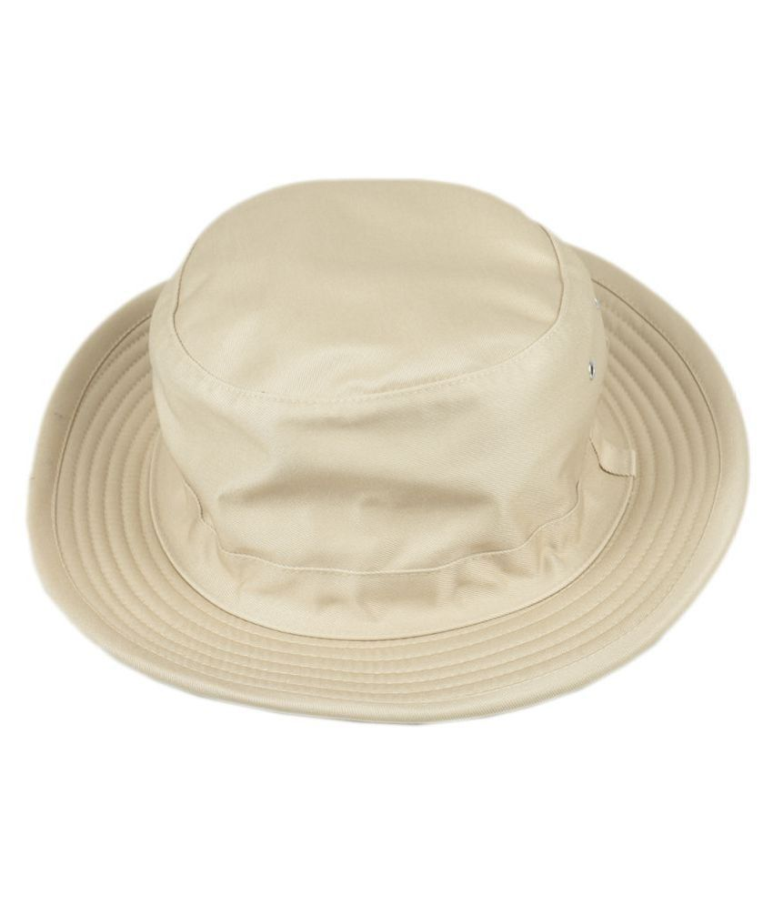Tiekart White Plain Cotton Hats