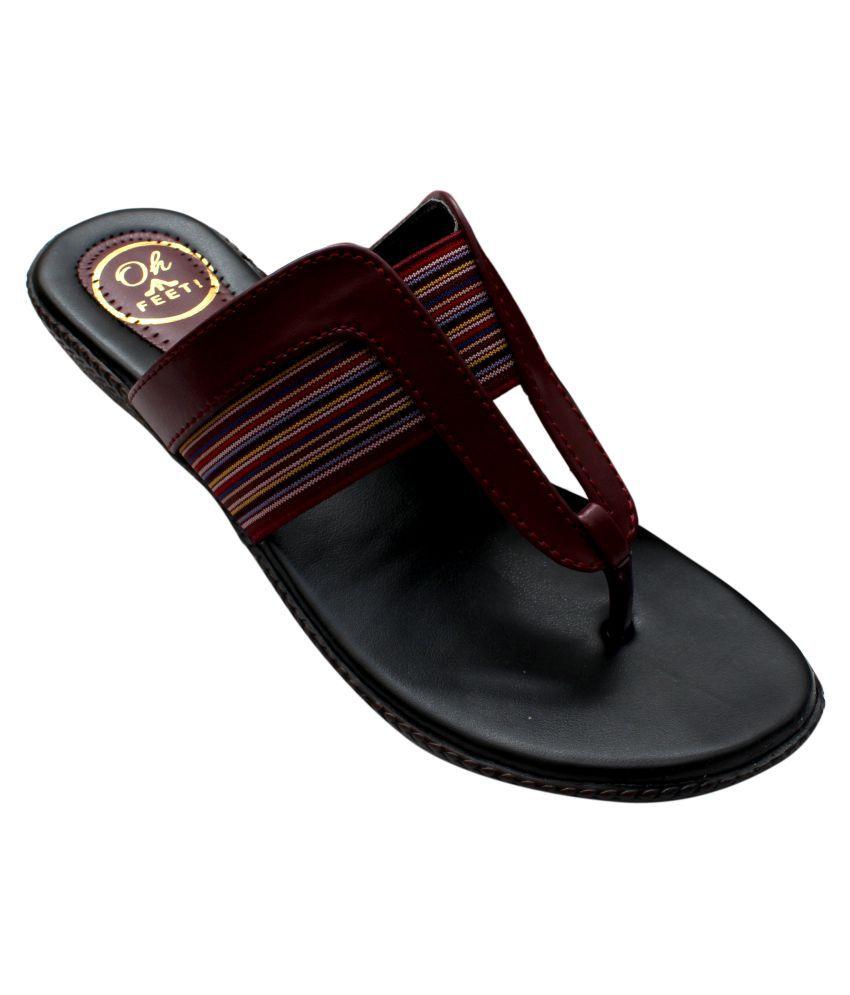 Oh Feet Maroon Flats