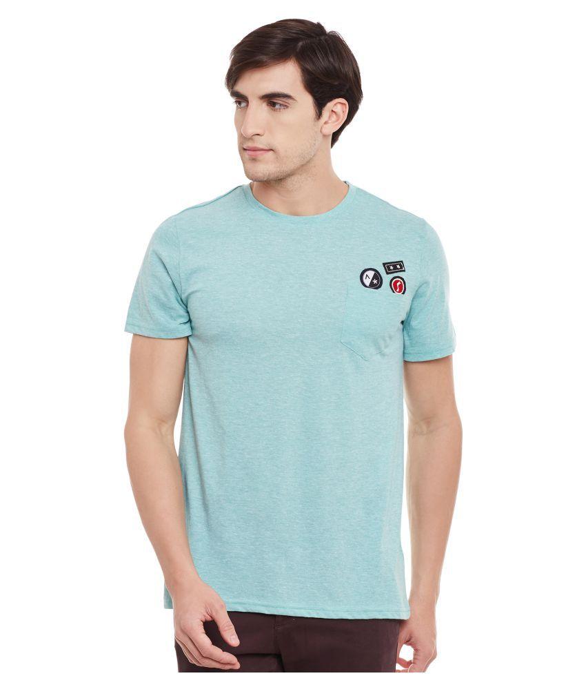 Atorse Green Round T-Shirt