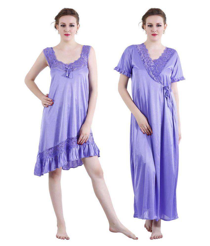 Visach Satin Nighty & Night Gowns