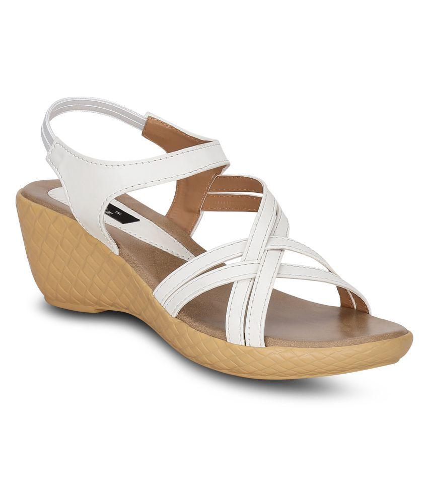 Kielz White Wedges Heels