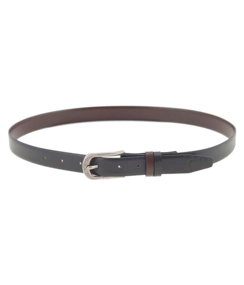 Canfly Black Leather Formal Belts