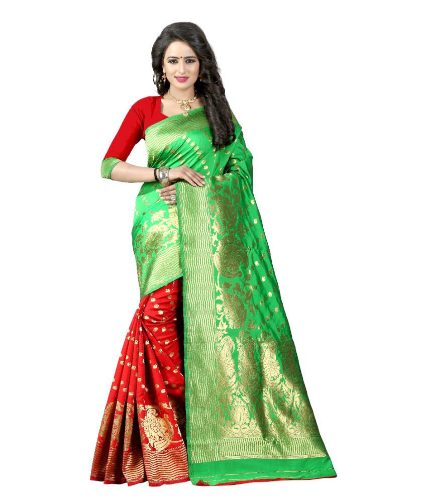 Edeal Online Multicoloured Banarasi Silk Saree