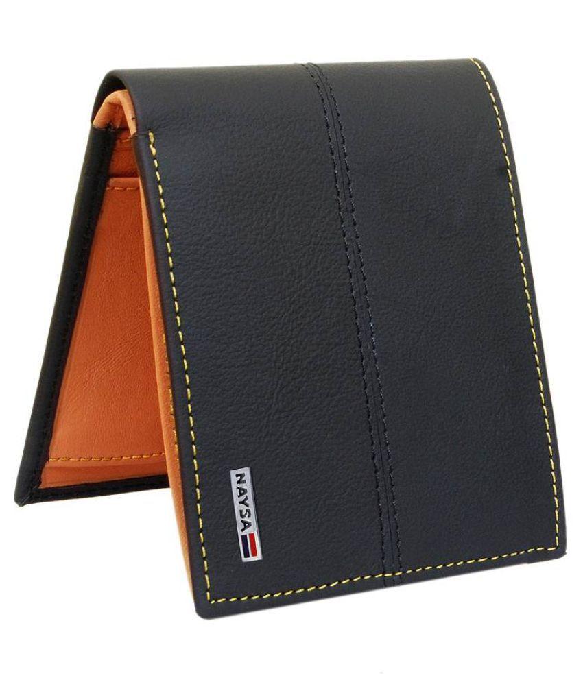Radon Leather Black Fashion Regular Wallet